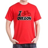 I Love Cycling Oregon T-Shirt