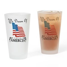 Amercia Drinking Glass