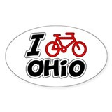 I Love Cycling Ohio Decal