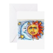 Celestial Sun and Moon Greeting Cards (Pk of 10)