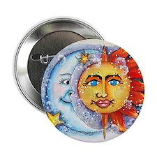 """Celestial Sun and Moon 2.25"""" Button"""
