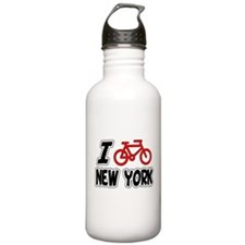 I Love Cycling New York Water Bottle