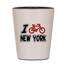 I Love Cycling New York Shot Glass
