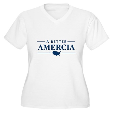 A Better Amercia Plus Size V-Neck Shirt