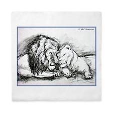Lions! Wildlife art! Queen Duvet
