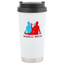 Yoga Marichis Pose Ceramic Travel Mug