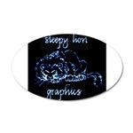 sleepyLionLogoNeg900x.png 35x21 Oval Wall Decal