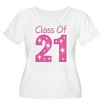 Class of 2021 Gift Women's Plus Size Scoop Neck T-