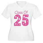 Class of 2025 Gift Women's Plus Size V-Neck T-Shir