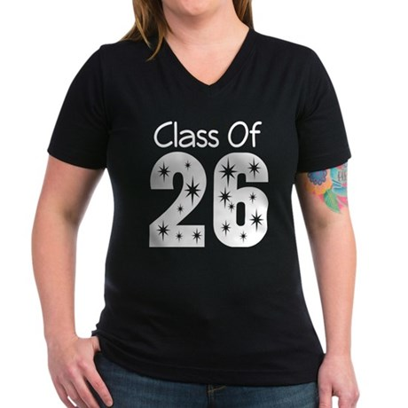 Class of 2026 Gift Women's V-Neck Dark T-Shirt