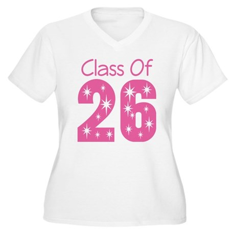 Class of 2026 Gift Women's Plus Size V-Neck T-Shir