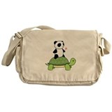 Turtle and Panda 1 Messenger Bag