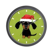 Doxie Clause Wall Clock