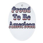 Proud to be American Ornament (Oval)