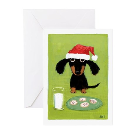 Doxie Clause Greeting Cards (Pk of 10)