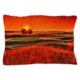 Fiery sunrise over 16th Fairway pillow case