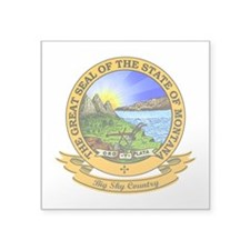 "Montana Seal.png Square Sticker 3"" x 3"""