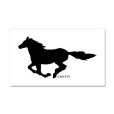 HORSE (black) Car Magnet 20 x 12