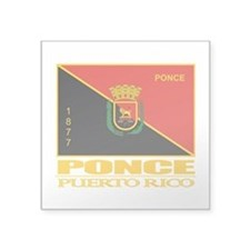 """Ponce Flag.png Square Sticker 3"""" x 3"""""""