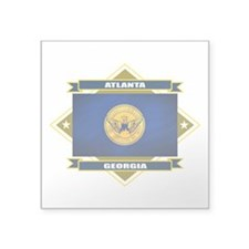 "Atlanta diamond.png Square Sticker 3"" x 3"""