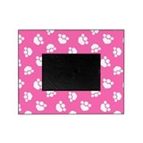Paw Print Hearts Hot Pink Picture Frame