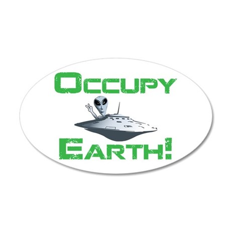 Occupy Earth! 20x12 Oval Wall Decal