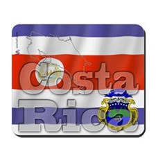 Silky Flag of Costa Rica Mousepad