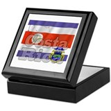 Silky Flag of Costa Rica Keepsake Box