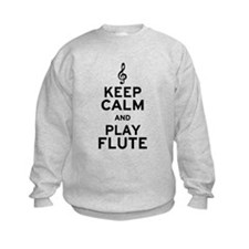 Keep Calm and Play Flute Sweatshirt