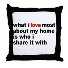 Love Most About Home Throw Pillow