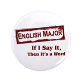"English Major 3.5"" Button"