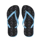 Black Newfie All About Me Flip Flops