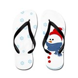 Cute Snowman Flip Flops