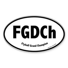 FGDCh, Flyball Grand Champ., 30,000, Oval Decal