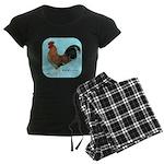 Tournaisis Rooster Women's Dark Pajamas