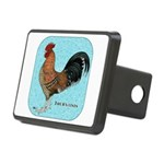 Tournaisis Rooster Rectangular Hitch Cover