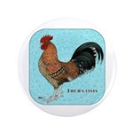 "Tournaisis Rooster 3.5"" Button (100 pack)"