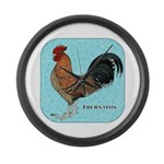 Tournaisis Rooster Large Wall Clock