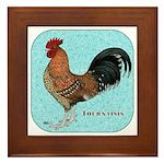 Tournaisis Rooster Framed Tile