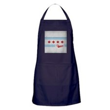 Chicago City Flag - Vintage Apron (dark)