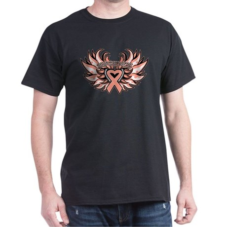 Uterine Cancer Wings Dark T-Shirt