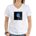 Mountain Blue Bird Women's V-Neck T-Shirt