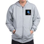 Mountain Blue Bird Zip Hoodie