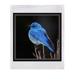 Mountain Blue Bird Throw Blanket
