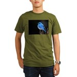 Mountain Blue Bird Organic Men's T-Shirt (dark)