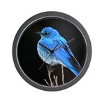 Mountain Blue Bird Wall Clock