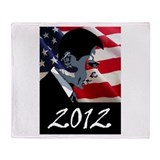 Obama 2012 Throw Blanket