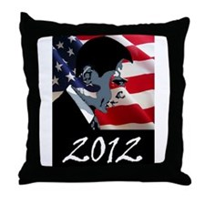 Obama 2012 Throw Pillow