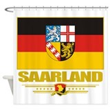 Saarland (Flag 10).png Shower Curtain