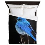 Mountain Blue Bird Queen Duvet